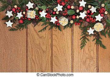 Christmas Frame - Christmas background border with...