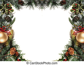 christmas frame - white background