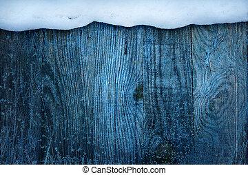 Christmas Frame;  winter blue snowy background;