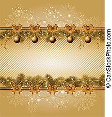 christmas frame with balls