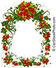 Christmas Frame with Clipping Path