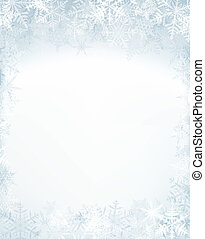 Christmas frame with crystal snowflakes.