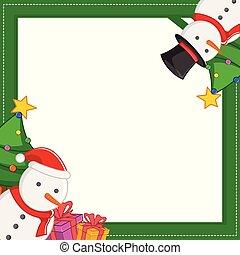 Christmas frame with gift design