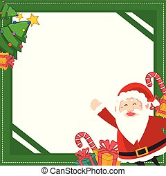 Christmas frame with gift design