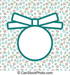 Christmas frame with pattern. Empty template for greeting card or invitation.