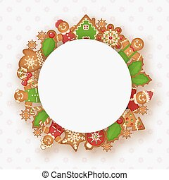 Christmas frame with place for your text