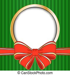 Christmas frame with red bow