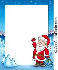 Christmas frame with Santa Claus 2