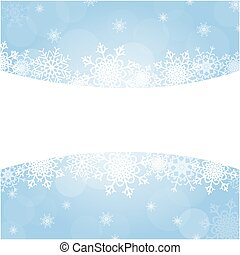 Christmas frame with snowflakes