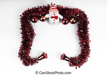 Christmas Frame with Snowman