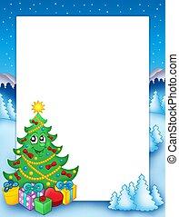 Christmas frame with tree 1