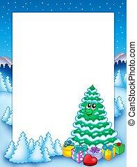 Christmas frame with tree 2