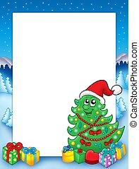 Christmas frame with tree 3