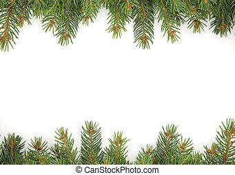 Christmas framework - Christmas green framework isolated on ...