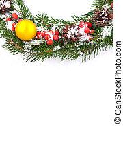 Christmas framework - Christmas green framework with cones...