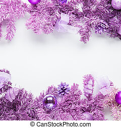 Christmas framework magenta fir