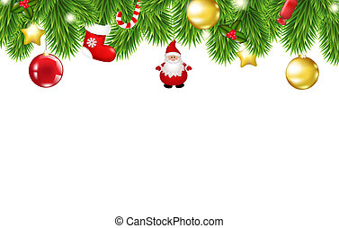 Christmas Framework, With Gradient Mesh, Vector Illustration...