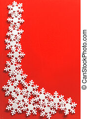 Christmas framework with snowflake