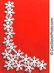 Christmas framework with snowflake
