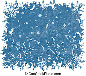 Christmas frosty background, vector