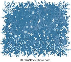 Christmas frosty background, vector - Christmas frosty...