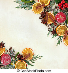 Christmas Fruit and Spice Border