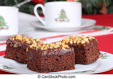 Christmas Fudge Brownies