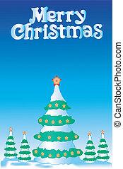 Christmas fur-tree - Greater christmas fur-tree and 4 small ...