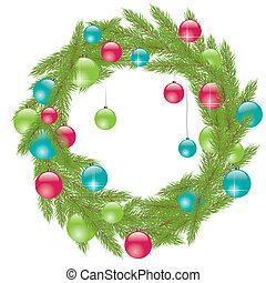 Christmas Fur-tree. Vector illustration