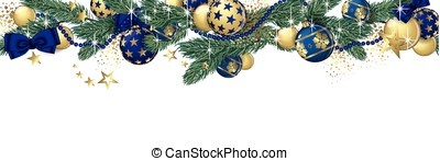 Christmas garland banner - Christmas garland and glitter...