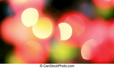 Christmas garland blurred lights background with different colors. HD. 1920x1080