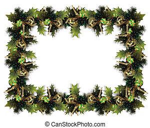 Christmas Garland Border - Image and digital illustration...