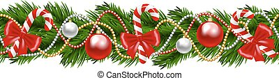 Christmas garland - Christmas decorative fir-tree garland...