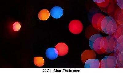 Christmas garland lights.