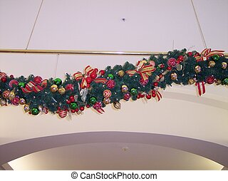 Christmas Garland - This is a big christmas garland hanging...