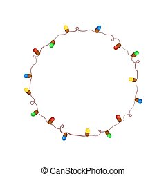 Christmas garland vector illustration
