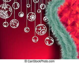 Christmas garland vector image. EPS 10