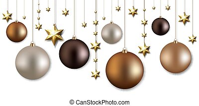 Christmas Garland With Ball And Stars