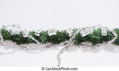 Straight Christmas Garland Isolated Photo Of A Straight Christmas