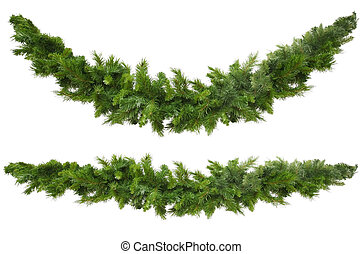 Christmas Garlands - Christmas garlands, curved and...