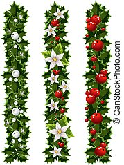 Christmas garlands of holly 1