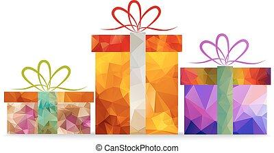 christmas geometrical gifts