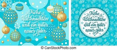 Christmas German Weihnachten and neue Jahr - Christmas...