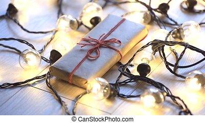Christmas gift and lights