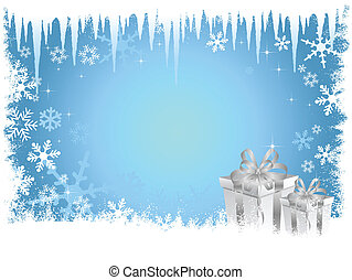 Christmas gift background - Christmas background with...