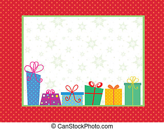 Christmas gift background - Christmas background with cute...
