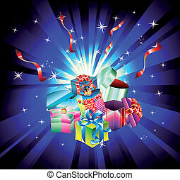 Christmas Gift Background with Abstract Design Elements