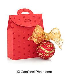 Christmas Gift Bag and Bauble