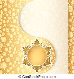 Christmas gift ball, snowflake design background.