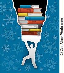 Christmas gift books concept.